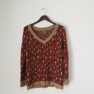 Urban Outfitters animal print knitted sweater